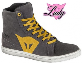 DAINESE Lady Street Biker D-WP antracite/giallo