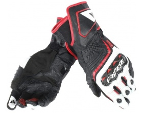 DAINESE Carbon D1 Long Gloves white/red