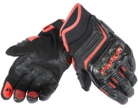 DAINESE Carbon D1 Short Gloves black/red