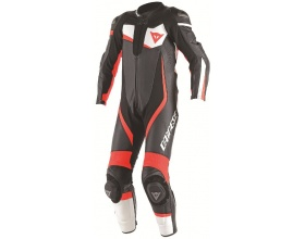 DAINESE Veloster 1PC Perforated Suit white/fluo red