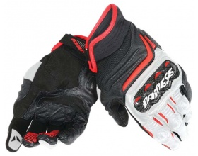 DAINESE Carbon D1 Short Gloves black/white/red