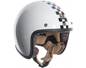 AGV RP60 Checker flag white