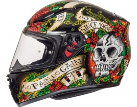 MT Revenge Skull & Roses black/red