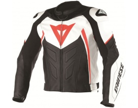 DAINESE Avro D1 Leather white/black/fluo red