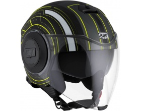 AGV Fluid Chicago mat black/yellow