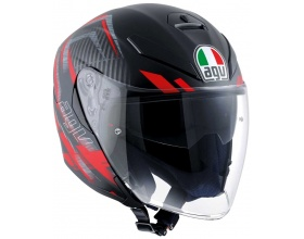 AGV K-5 JET Urban Hunter mat black/red