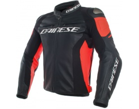 DAINESE Racing 3 Leather black/fluo-red