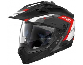 NOLAN N70-2 X Grandes Alpes N-Com® 20 flat black/red