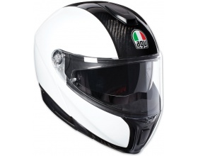 AGV Sportmodular Solid glossy carbon/white