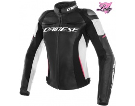 DAINESE Lady Racing 3 Leather black/white/fuxia