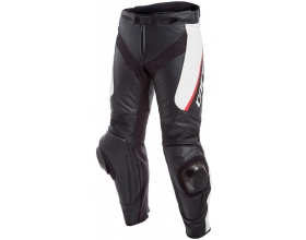 DAINESE Delta 3 Leather pants black/white/red