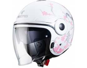 Caberg Uptown Chrono Bloom white/silver/pink