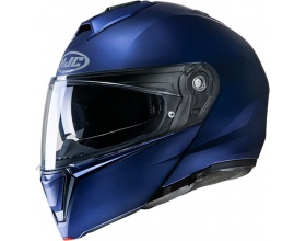 HJC i90 semi flat metallic blue