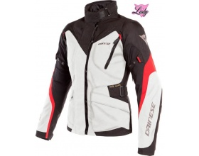 DAINESE Lady Tempest 2 D-Dry™ light gray/black/tour red