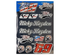 Αυτοκόλλητα Nicky Hayden Moto stickers