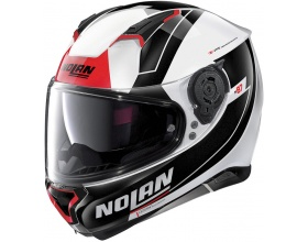 NOLAN N87 N-Com® Skilled 98 metal white/red