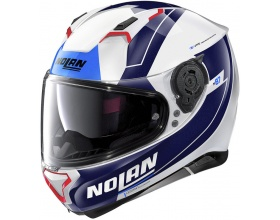 NOLAN N87 N-Com® Skilled 99 metal white/blue