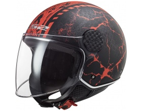LS2 Sphere Lux OF558 Snake mat black/red