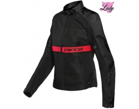 DAINESE Ribelle Air Lady Tex black/lava red